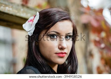 Portrait of girl. - stock photo