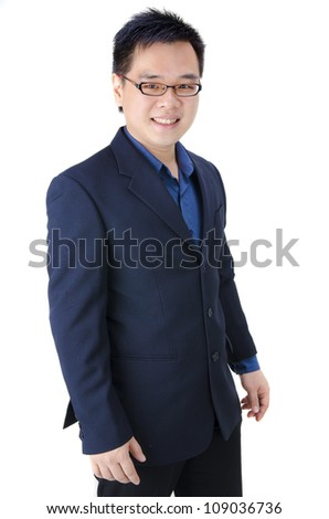 Portrait of handsome Asian business man - stock photo