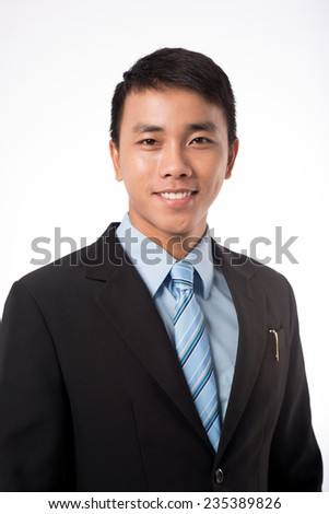 Portrait of handsome Asian businessman - stock photo