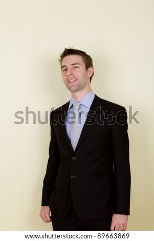 Portrait of handsome young business man
