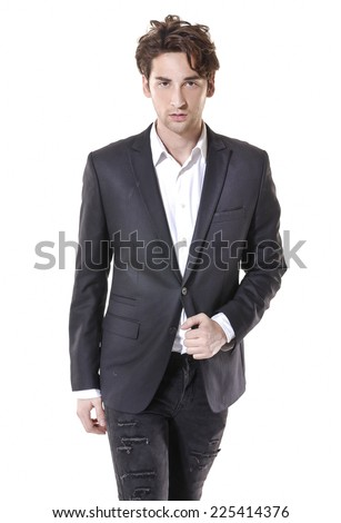 Portrait of handsome young businessman, - stock photo