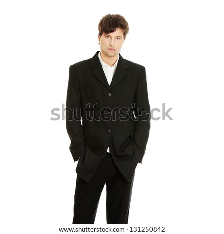 Portrait of handsome young businessman, isolated