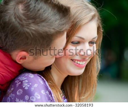 portrait of happy couple at outdoor
