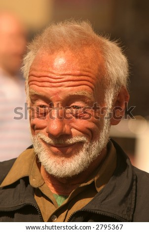 Portrait of happy man with beard