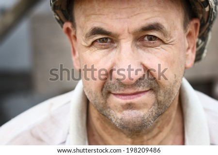 Portrait of happy middle aged smiling man  - stock photo