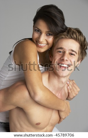 Portrait Of Happy Sexy Couple - stock photo
