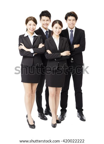 Portrait Of happy Young successful Business team - stock photo