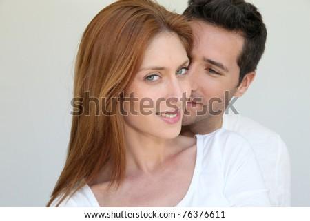 Portrait of in love couple - stock photo