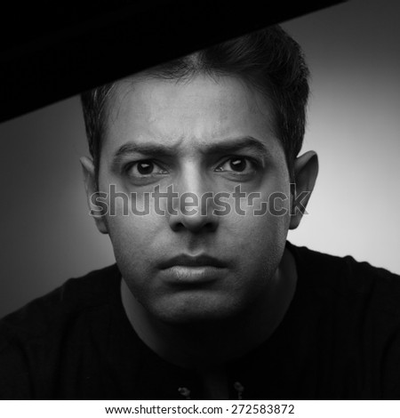 portrait of indian angry man
