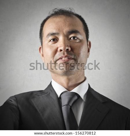 portrait of japanese businessman - stock photo