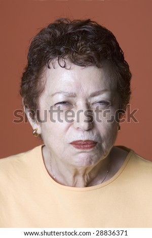 portrait of Latino woman making a face