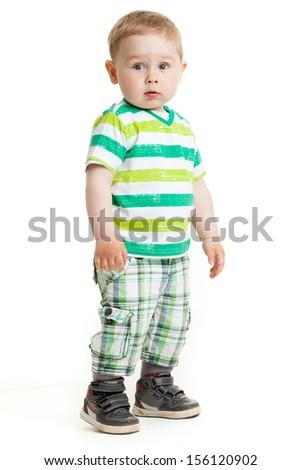 Portrait of little Boy  - stock photo