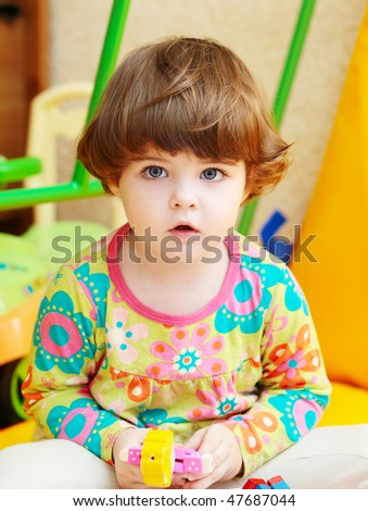 portrait of little girl - playing