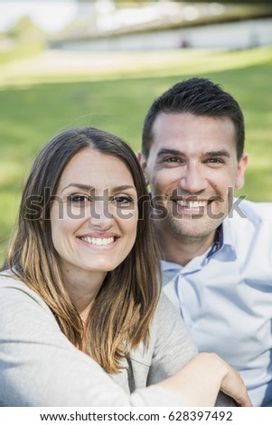 Portrait of living young couple