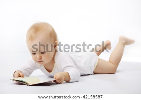 Portrait of lovely baby studio shot - stock photo