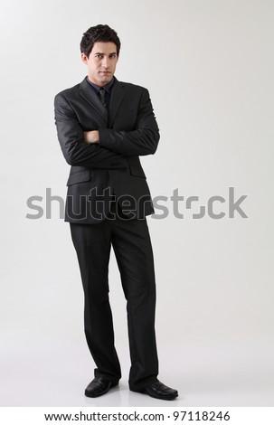 Portrait of man in suit - stock photo