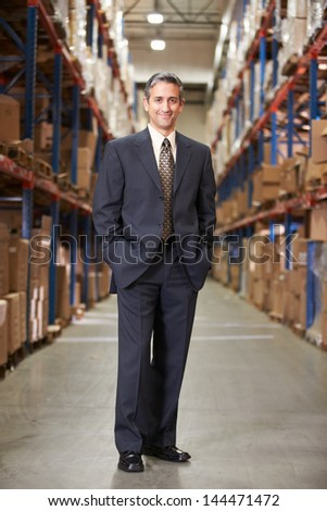 Portrait Of Manager In Warehouse - stock photo