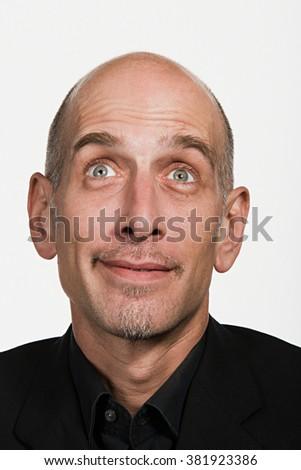 Portrait of mature adult Caucasian man - stock photo