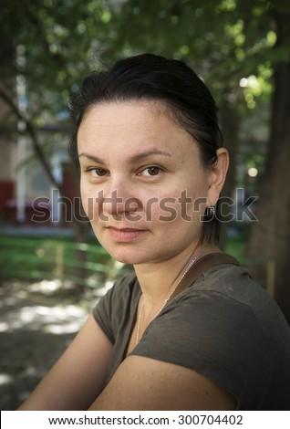 Portrait of mature adult women - stock photo