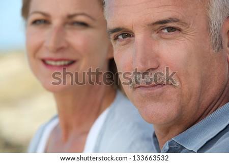 Portrait of mature people - stock photo
