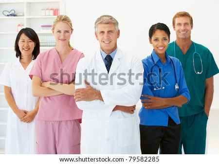 Portrait of medical professionals - stock photo