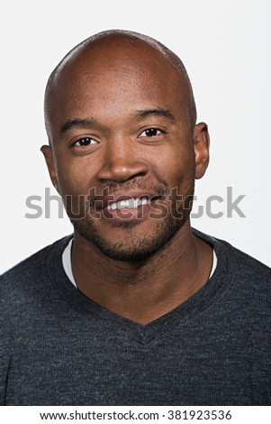 Portrait of mid adult African American man - stock photo