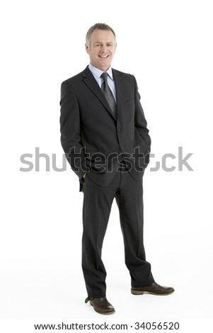 Portrait Of Middle Aged Businessman - stock photo