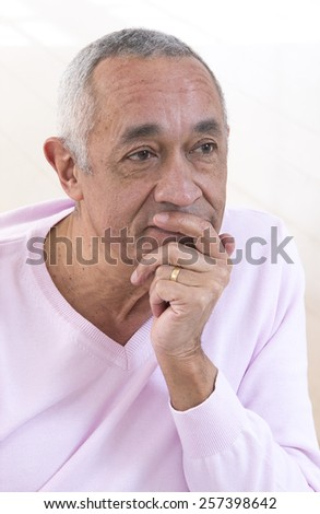 Portrait of middle-aged man - stock photo