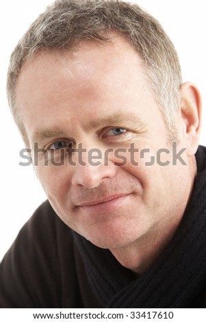 Portrait Of Middle Aged Man - stock photo