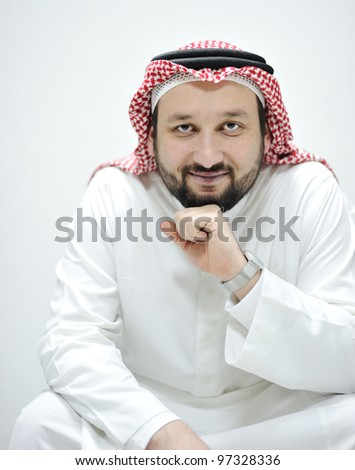 Portrait of Middle Eastern man - stock photo
