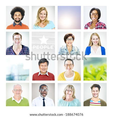 Portrait of Multiethnic Diverse World People