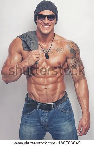 Naked man t shirt