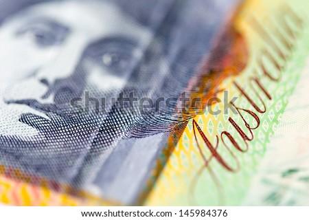 Portrait of Nellie Melba on one hundred australian dollars note - stock photo