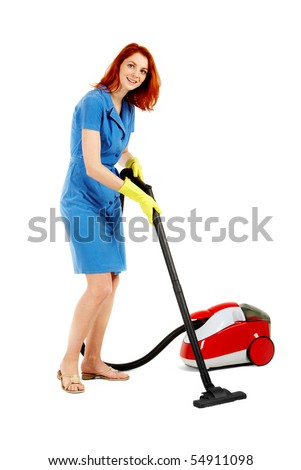 Hardworking young lady cleans the kitchen before pounding 1