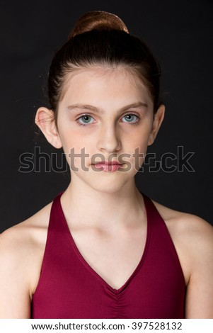 Portrait of pretty young girl - stock photo