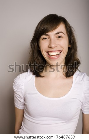 portrait of pretty young woman posing - stock photo