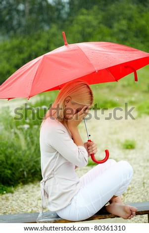 Stock Images similar to ID 20346718 - crying girl with ...