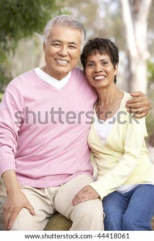 Portrait Of Senior Couple In Park - stock photo