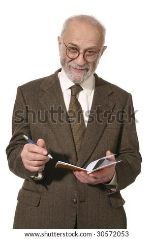 portrait of senior man - stock photo