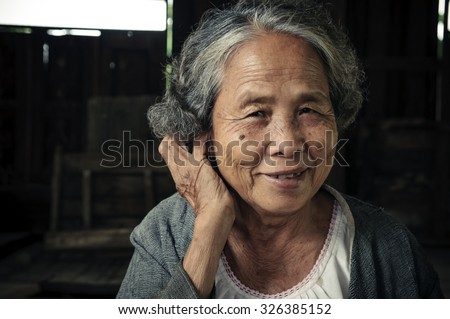 Portrait of senior woman at the home