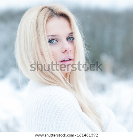 portrait of sexy blondes - stock photo