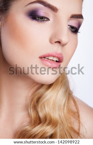 portrait of sexy young woman - stock photo
