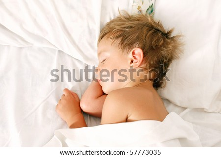 portrait of sleeping boy