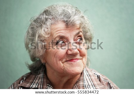 Portrait of smile old woman