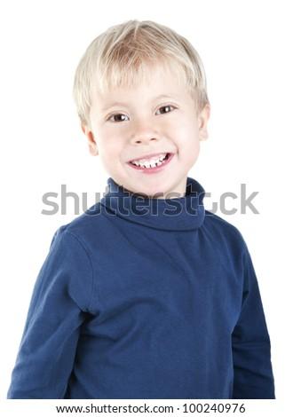 Portrait of smiling boy - stock photo