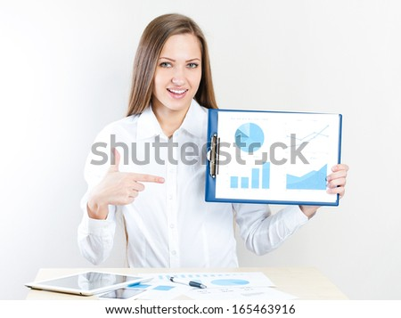 Portrait of smiling business woman