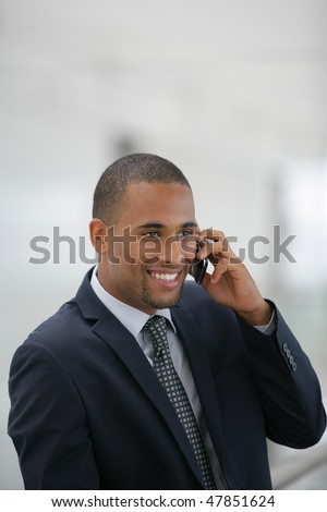 Portrait of smiling businessman - stock photo