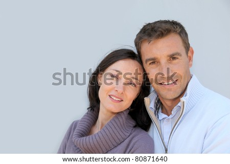 Portrait of smiling couple - stock photo