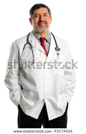Portrait of Smiling hispanic doctor