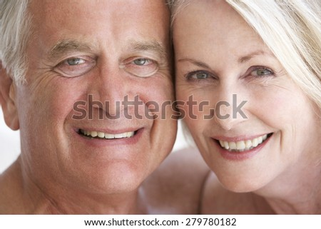Portrait Of Smiling Senior Couple - stock photo